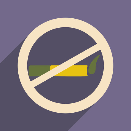 allowed: Flat with shadow icon and mobile application smoking allowed