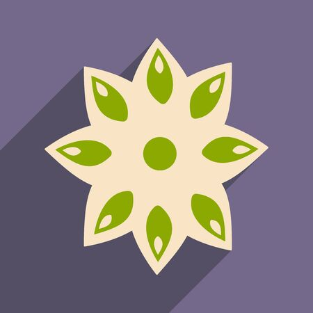 anise: Flat with shadow icon and mobile application anise