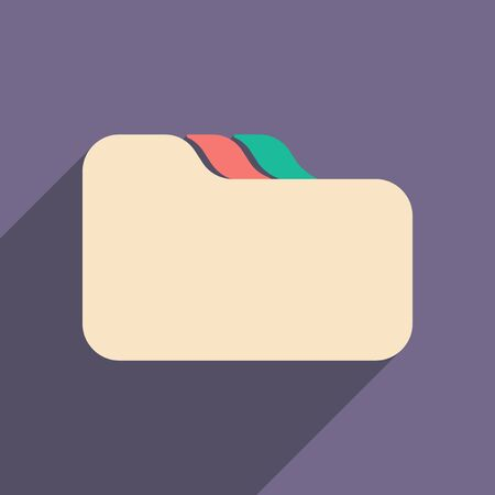 folder icon: Flat with shadow icon and mobile applacation file folder