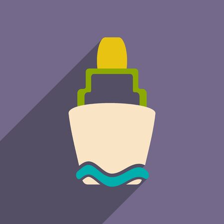 buoyancy: Flat with shadow icon and mobile applacation buoy