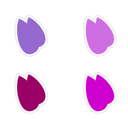 almonds: assembly realistic sticker design on paper almonds Illustration