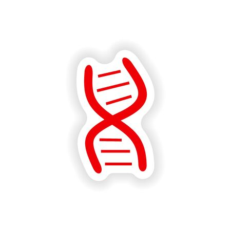 genomes: icon sticker realistic design on paper logo DNA