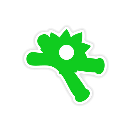 Icon sticker realistic design on paper vanilla stock vector 42689274