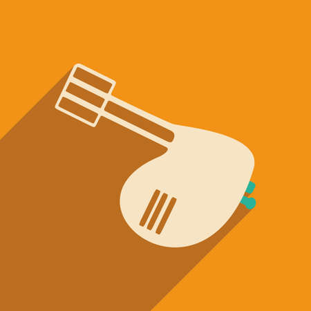 hand beats: Flat with shadow icon and mobile applacation mixer Illustration