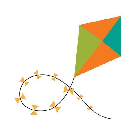 papalote: Piso con el icono de la sombra y la cometa de aplicaciones móviles Vectores