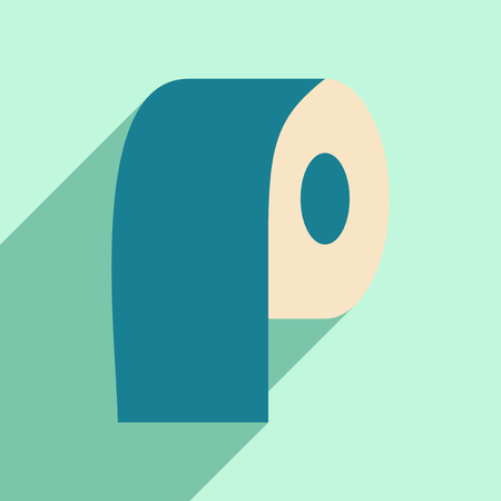 paper roll: Flat with shadow icon and mobile application paper roll