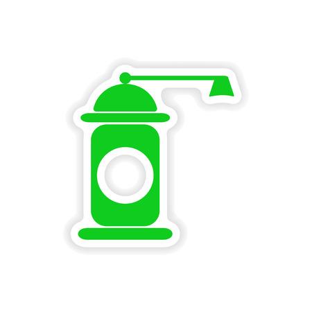 seasoned: icon sticker realistic design on paper pepper mill