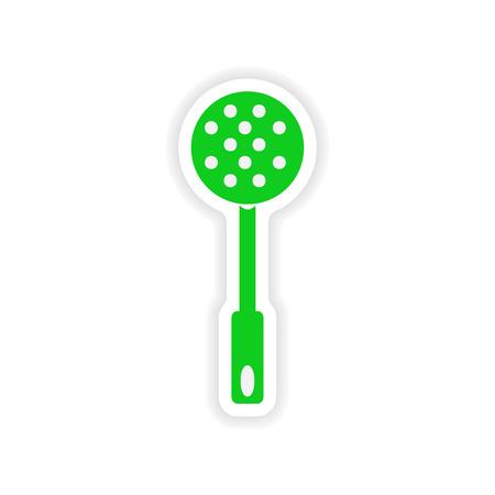 skimmer: icon sticker realistic design on paper skimmer Illustration