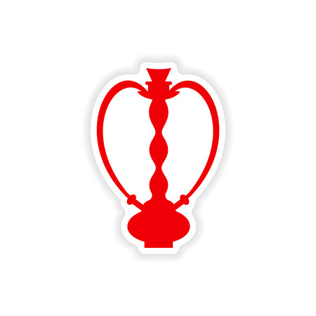 shisha: icon sticker realistic design on paper hookah shisha Illustration