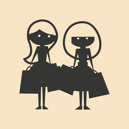 girlfriends: Flat in black and white mobile application girlfriends shopping