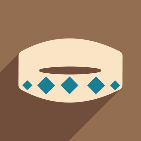 spiked: Flat with shadow icon and mobile application collar