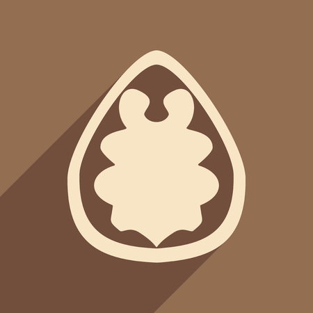 nogal: Flat with shadow concept and mobile application walnut