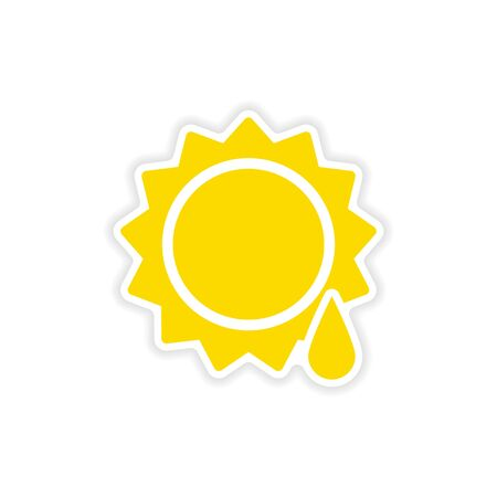 sun drop: icon sticker realistic design on paper sun drop