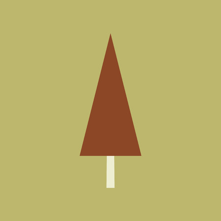 coniferous: Flat with shadow icon and mobile application coniferous