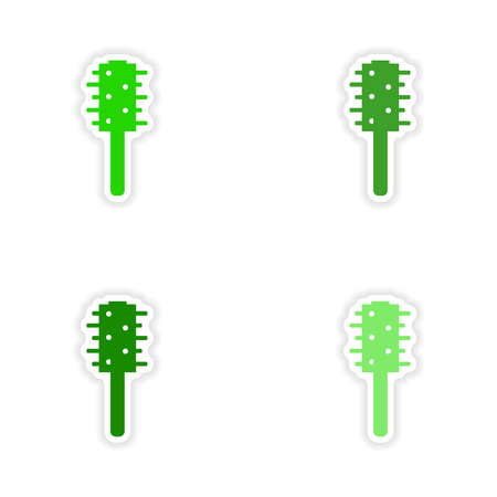 scrubber: assembly realistic sticker design on paper toilet brush