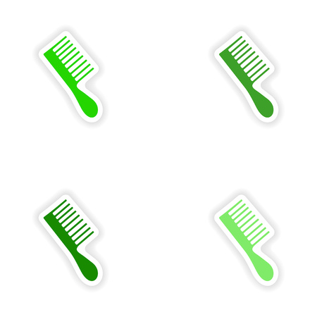 assembly: assembly realistic sticker design on paper toothbrush