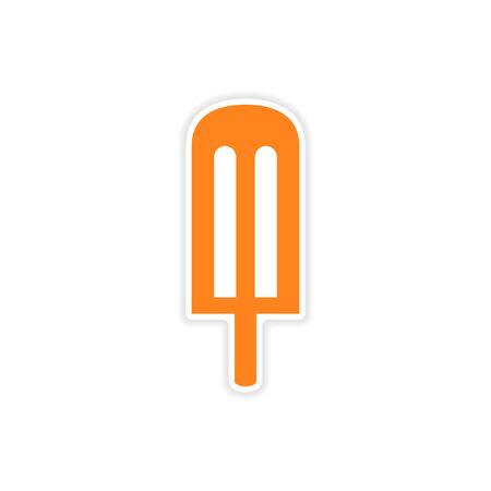 icing: icon sticker realistic design on paper cream icing