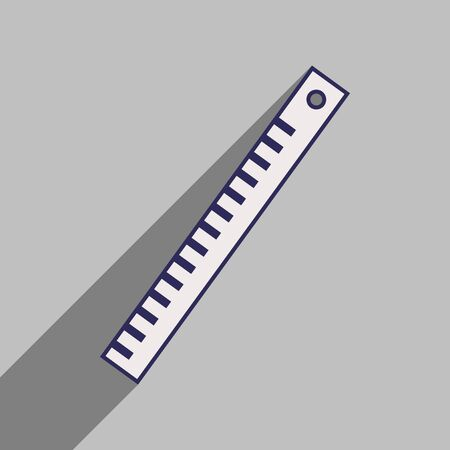 square ruler: Flat with shadow icon and mobile application ruler Illustration