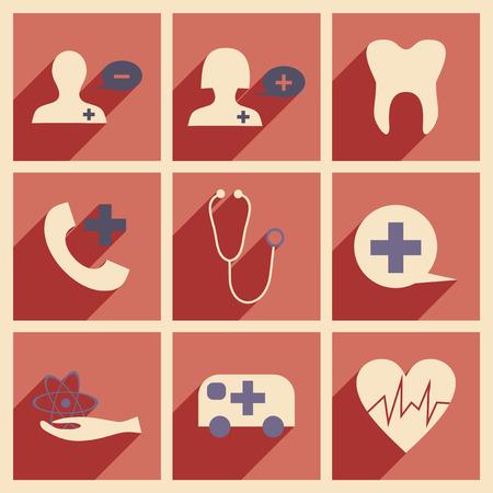 egészségügyi ellátás: Lakás árnyék koncepció és mobil alkalmazás egészségügy