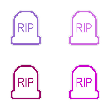 headstone: assembly sticker bright headstone on a white background