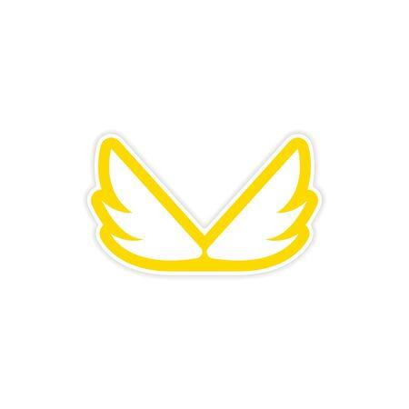 wings icon: Sticker Eagle Wings icon Vettoriali