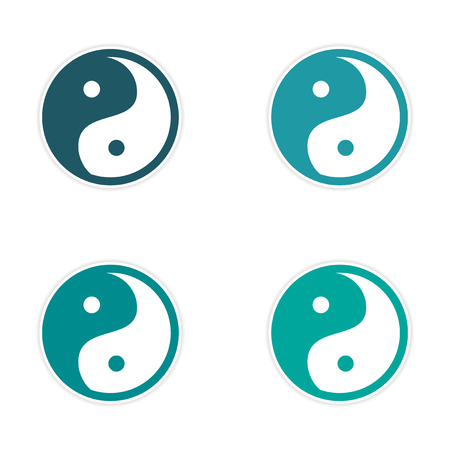acupuntura china: montaje engomada de Yin Yang