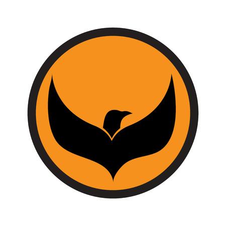 eagle flying: logo flying eagle realistic icon on white backgrounds