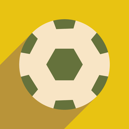 futball: Flat with shadow icon and mobile application soccer ball Illustration