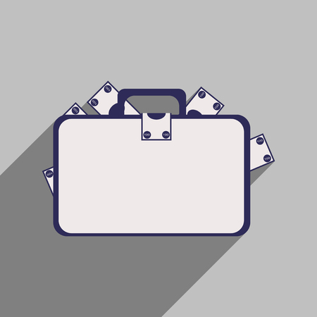 loot: Flat with shadow icon case with money