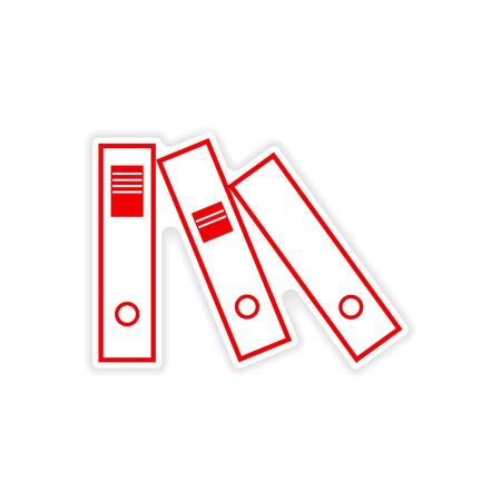 case binder: stylish sticker on paper folders for documents