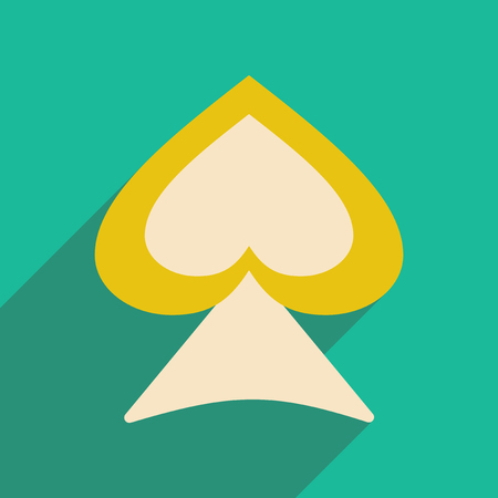 peak: Flat with shadow icon and mobile application suit peak Illustration