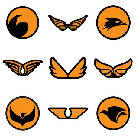 stylish logos Eagles realistic icon on white backgrounds