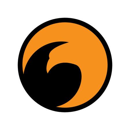 majestic: logo flying eagle realistic icon on white backgrounds