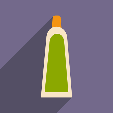 aftershave: Flat with shadow icon and mobile application Shave Cream Illustration