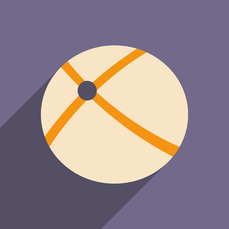 orbital: Flat with shadow icon and mobile applacation orbital