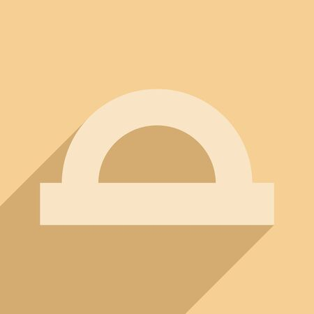 protractor: Flat with shadow icon and mobile application protractor