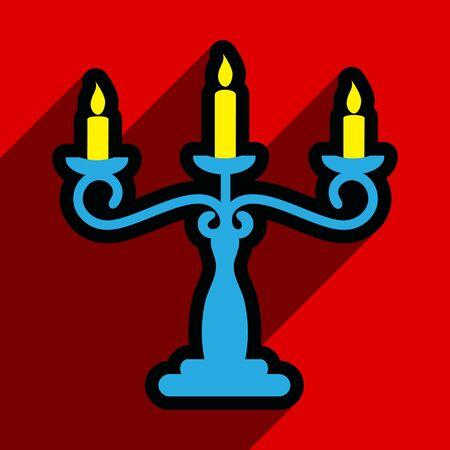 sconce: Piso con Icon sombra candelabro fondo brillante