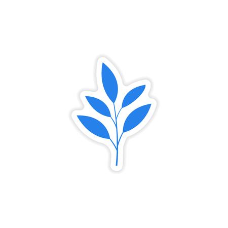 superacion personal: icon sticker realistic design on paper leaves Vectores