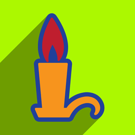 Flat with shadow Icon  candlestick bright background Illustration