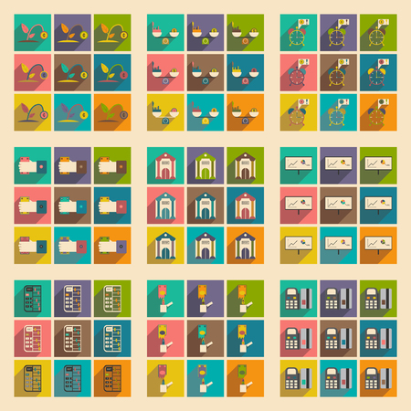 obligatory: Modern collection flat icons with shadow economy