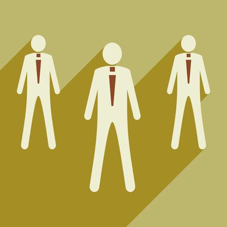 surf team: Flat design modern vector illustration icon employees