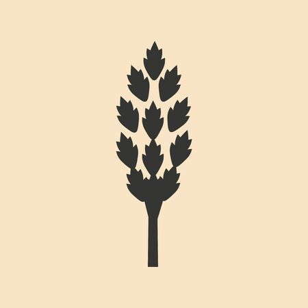 personal growth: Flat in black and white mobile application tree Illustration