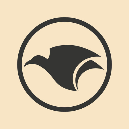 eagle: Flat in black and white mobile application eagle
