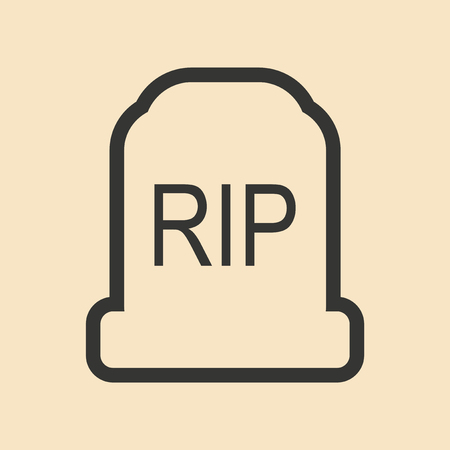 headstone: Flat in black and white mobile application headstone