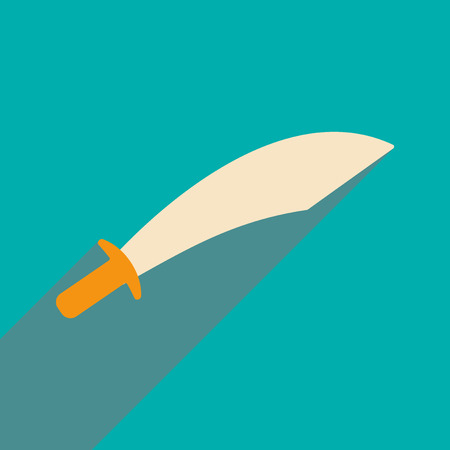 social history: Flat with shadow icon and mobile application sword