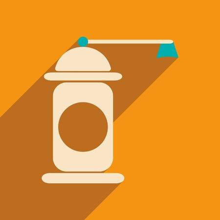 pepper mill: Flat with shadow icon and mobile application pepper mill