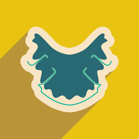 dental caries: Icon of dental caries in flat style Illustration