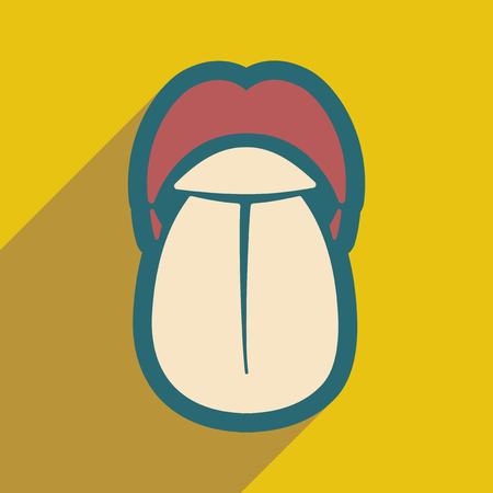 banter: Icon of human tongue in flat style