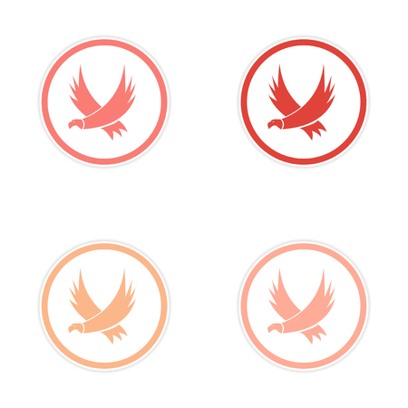 assembly: assembly silhouette stickers Eagles Illustration
