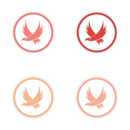 asamblea: silueta conjunto de pegatinas Eagles Vectores